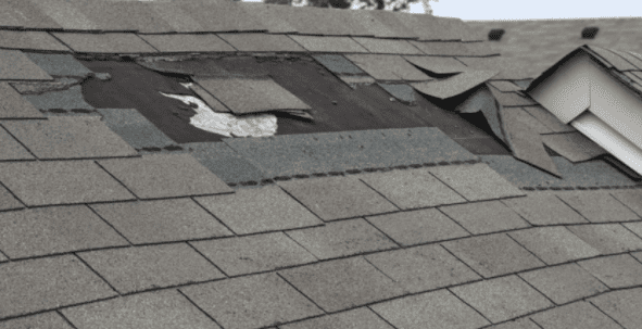 Missing Shingles And Water Leaks